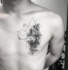 61 Best Stylish, Beautiful and Unique Tattoos for Men unique tattoos for men; unique tattoos for couples; unique tattoos for my son; unique tattoos for lost loved ones; unique tattoos for parents; unique tattoos for best friends Est Tattoos, Tattoo L, Wolf Tattoo Sleeve, Back Tattoo, Body Art Tattoos, Tattoo Drawings, Hand Tattoos, Sleeve Tattoos, Pretty Skull Tattoos