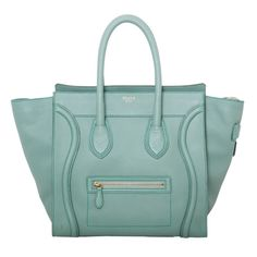 this minty color is to die for #Celine #luggagetote