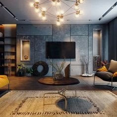 Pin by Sweta A on There& No Place Like Home. Living Room Tv, Living Room Modern, Interior Design Living Room, Living Room Designs, Grey Interior Design, Scandinavian Interior Design, Home Office Design, Apartment Design, Room Decor
