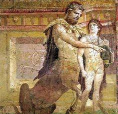 El centauro Quirón, tutor de Asclepios, Hércules, el mismísimo Apolo,  Jasón y Aquiles, con éste último.