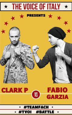 #Battle 2 - The Voice of Italy 2015 - #tvoi #ClarkP vs #FabioGarzia #TeamFach