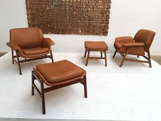 Harmonious And Simple Matching Chair And Ottoman Placement