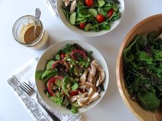 5-minute Balsamic Honey Vinaigrette (and Warm Chicken Salad with Mixed Greens).