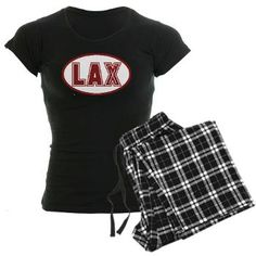 Lacrosse Oval LAX Red Pajamas...from YouGotThat.com the largest lacrosse gift and apparel shop around.