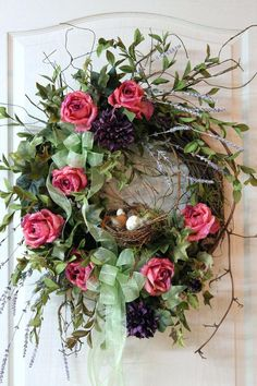 How To Make A Winter Wreath For Front Door Wreath For Front Door Ideas Summer Wreaths For Front Door Uk Front Door Wreath Country Wreath Summer Wreath Fall Wreath Bird Nest Wreath