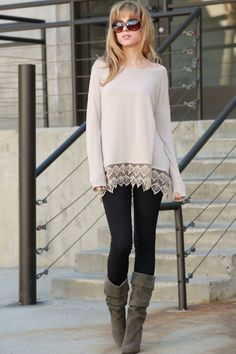 Better With Time Tunic Top (Beige)