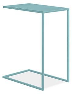 Slim C-Table in Colors - Modern End Tables - Modern Living Room Furniture - Room & Board Round End Tables, Modern End Tables, Side Tables, Outdoor Side Table, Outdoor Coffee Tables, Table Furniture, Living Room Furniture, Painted Furniture, Furniture Ideas