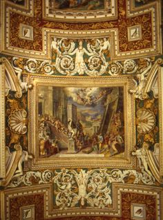 The Vatican Museum Ceiling Detail by Antonio Ramblés
