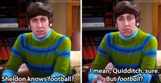 Shocker...Sheldon knows Football, and 26 other Jokes for Big Bang Theory fans :)