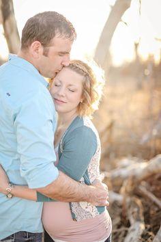 Hug and forehead kiss