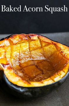 EASY Baked Acorn Squ EASY Baked Acorn Squash recipe perfect for the fall! Squash is cut in half insides scooped out then baked with a little butter brown sugar and maple syrup. Butter Squash Recipe, Acorn Squash Recipe Brown Sugar, Acorn Squash Recipes Healthy, Baked Squash Recipes, Acorn Squash In Oven, Butternut Squash, Thanksgiving Holiday, Thanksgiving Recipes, Christmas