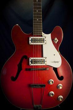 Vintage RARE Harmony H54 H 54 1 Double Cut Guitar GRLC967  