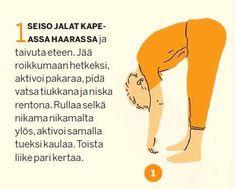 Tee tämä liikesarja joka päivä. Yoga Movement, Get In Shape, Excercise, Gym Workouts, Fitness Inspiration, Pilates, Feel Good, Healthy Lifestyle, Health Fitness