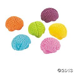 Brain-Shaped Erasers from Oriental Trading Company (Goodie Bag Favor for Mad Scientist Party)
