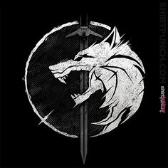 by Inspired by The Witcher Fenrir Tattoo, Norse Tattoo, Viking Tattoos, Witcher Art, The Witcher, Witcher Tattoo, Witcher Wallpaper, Day Of The Shirt, Wolf Artwork