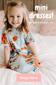 Beautiful soft cotton melon green gown tucked under with bright orange poppy's & long green stems languish on this outfit. Topped off with lovely blondish hair pulled to the side & a beautiful smile. Little Girl Fashion, Toddler Fashion, Kids Fashion, Toddler Girl, Baby Kids, Cute Summer Dresses, Mini Dresses, Girls Dresses, Cute Baby Clothes