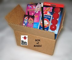 """BOX OF MAGIC.... A box """"LOADED"""" with our best selling magic tricks. Card tricks, floating tricks, coin tricks, tricks of illusion and more. Over $58 of magic at an unheard of price. Perfect for the beginner or experienced magician. Simple and easy to perform with complete instructions included. www.theonestopfunshop.com"""