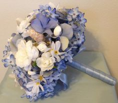 Beach Wedding Bouquet with Shells by LCFloral on Etsy, $90.00