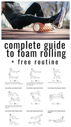 Great Tips Muscle Pain Relief After Workout : Ready to roll: complete guide to foam rolling and rolling routine – Healthy Living Post Workout Stretches, 7 Workout, Roller Workout, Stretching Exercises, Workout Ideas, Acl Recovery, Recovery Humor, Muscle Recovery, Codependency Recovery