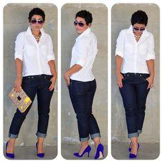 mimi g.: Aldo Sexy Pumps! + Gap Jeans & White Shirt