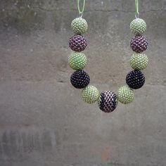 Náhrdelník z šitých kuliček V borůvčí  - Plaisir Belly Button Rings, Handmade, Jewelry, Hand Made, Jewlery, Jewerly, Schmuck, Jewels, Belly Rings