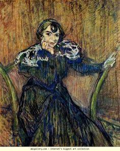 Henri de Toulouse-Lautrec. Portrait of Berthe Bady. 1897