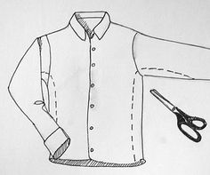 How to make a man's flannel shirt into a women's... will be doing this tonight.  I bought a mans flannel shirt for much cheaper than they are in the women's section, just needs to be altered for the fitted look!