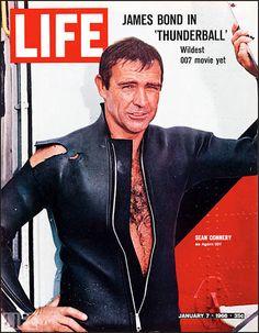 Life magazine, January 7, 1966 — Sean Connery as 'James Bond' in Thunderball (1965)