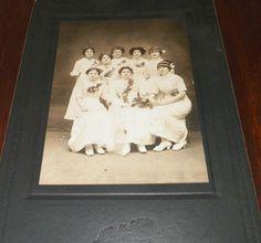 Old Vintage Antique Photograph Woman Wearing White Flowers Scranton PA Wedding?