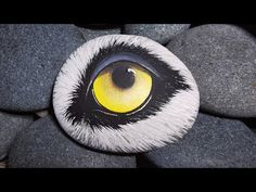 Wolf Eye - YouTube Painted Rocks, Hand Painted, Wolf Eyes, Stone Painting, Rock Art, My Etsy Shop, Charity, Artwork, Youtube