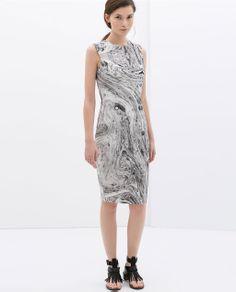 Marble Dress by ZARA