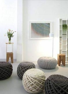 Urchin Poufs from Dutch-based Christien Meindertsma, available at Supernatural, a new showroom and interior design studio in Potrero Hill. Photo: Devon Elizabeth Butler