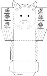 A chinese new year craft tutorial, build chinese zodiac paper boxes instead of lucky money envelopes, pig