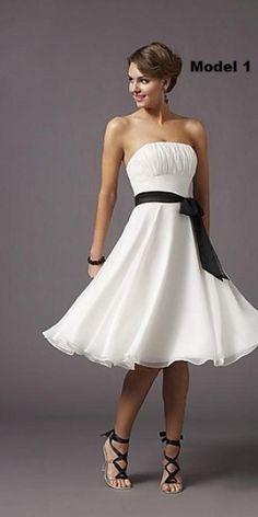 10 modele de rochii albe pentru cununia civila Poza 1