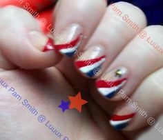 Image detail for -Nail of the Day Red White and Blue Status   LUUUX