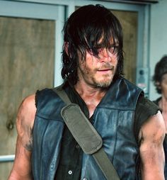 """Seriously!  Is he trying to kill us?  He can't possibly think we can look at picture after picture of him posted """"looking this good"""" and at some point not loose our minds.  Look at those arms!  The hair!  The face stubble!  The face!  The eyes!  Post another picture, I dare you Daryl :]"""