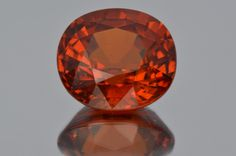 Amazing Gem!. Rich Orange Spessartine Garnet Unheated from Namibia. Large Size. Oval cut. Perfect Shape. 9.24 ct. Very hard to find!