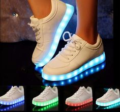 a7b65def420c USB LED Light Up Couple Shoes Chaussures Lumineuses