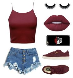 """""""•Sneakin'•"""" by gabrielledixon ❤ liked on Polyvore featuring Puma, Lime Crime and Casetify"""