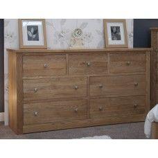a8347bb0bd9 Torino Oak Furniture Extra Wide 7 Drawer Multi Chest