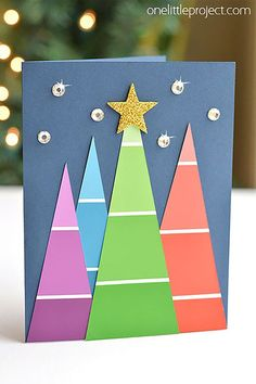 Take your creative skills to the next level with these unique homemade Christmas cards.See more ideas about DIY Christmas Cards Quick And Easy To Make . Diy Holiday Cards, Simple Christmas Cards, Christmas Card Crafts, Homemade Christmas Cards, Christmas Cards To Make, Xmas Cards, Kids Christmas, Family Holiday, Holiday Ideas