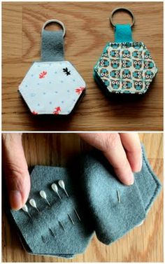Nifty idea - a pin pad! Good spot for needles too...I never can find one when I need it!