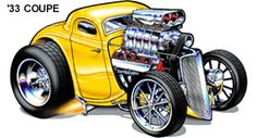 Cool Muscle Cartoon Cars | Cartoon Cars