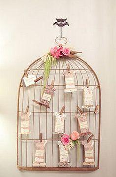 plan de table cage oiseaux