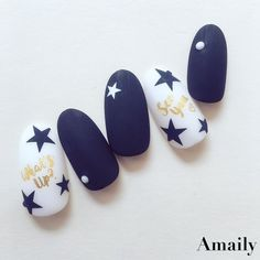 Amaily.jpさんはInstagramを利用しています:「#Amaily#アメイリー #nails#nailart#naildesign#nailstickers#nailswag #nailstagram #instanails#instanails#nailaddict #nailartclub…」 Manicure Y Pedicure, Diy Nail Designs, Best Acrylic Nails, Pretty Nail Art, Nailart, Beautiful Nail Designs, Perfect Nails, Blue Nails, Diy Nails