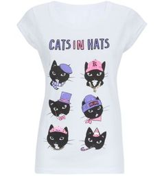 White Cats In Hats T-Shirt