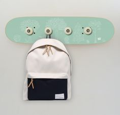 Teen 13 - 18 years : skateboard coat rack.  Cool skateboarder gift idea for your home.