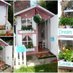 Have a look at our new child friendly garden, including a personalised playhouse Build A Playhouse, Playhouse Outdoor, Child Friendly Garden, Vegetable Garden Tips, Play Houses, Family Life, Gardening Tips, Summertime, Babys