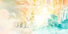 Jesús está de pie a la derecha del majestuoso trono de Jehová, rodeado de ángeles
