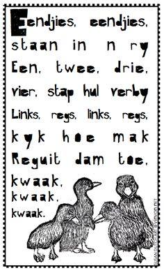 #Afrikaans #rympies # kids #nursery #freebie #nurseryrhyme #kinders #vinvon.net Grade R Worksheets, Afrikaans Language, Body Preschool, Rhymes Songs, Easter Story, Circle Time, Animal Tattoos, Nursery Rhymes, Outdoor Travel